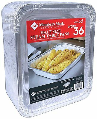 Daily Chef Aluminum Foil Steam Table Pans, Half Size 36ct.