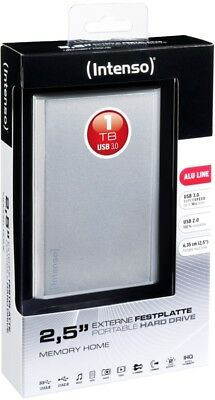 Intenso HDD externe Festplatte Memory Home Alu Line 2,5 Zoll 1TB USB 3.0 silber