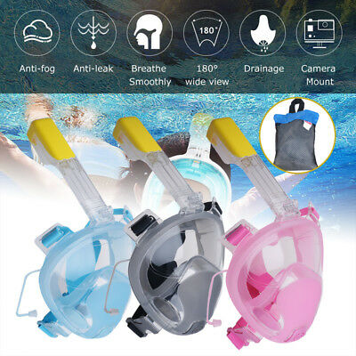 Full Face Anti-fog Snorkel Snorkeling Mask Swimming Goggles For GoPro L/XL AU