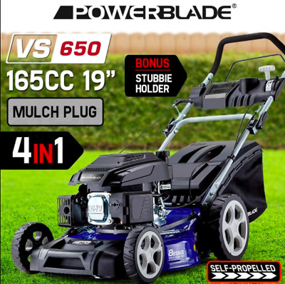 """19"""" Self-Propelled Petrol Lawnmower 65L catcher air-cooled 4 stroke Pull Start"""