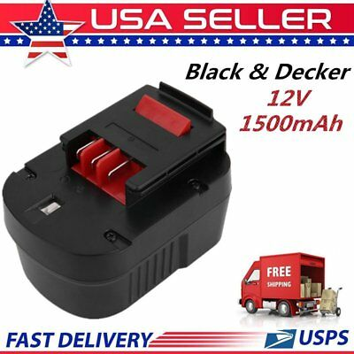 Replace for Black & Decker 12V Type Battery 1500mAh Ni-Cd Cordless Drill OY