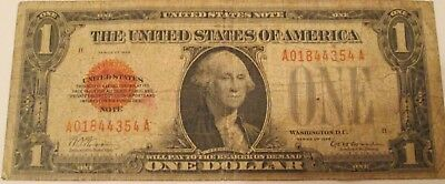 1928 $1 One Dollar United States Red Seal Funnyback Note