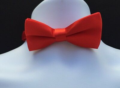 NWT Boys Red Silk Adjustable  Bow Tie