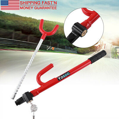 Heavy Duty Universal Anti-Theft Security System Steering Wheel Lock FOR Cars SUV