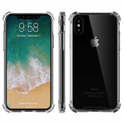 Ultra Clear Transparent Raised Edge Slim Shockproof Case For iPhone X 8 7 6