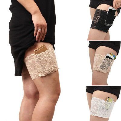Women Lace Prevent Legs Warmers Elastic Socks Non Slip Anti-Chafing Thigh Bands