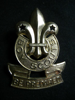 VINTAGE BOY SCOUTS of CANADA CAP / HAT BADGE CANADIAN BE PREPARED 1950s SCULLY