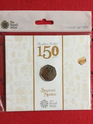 Squirrel Nutkin 2016 UK 50p BU Coin Brand New Pack