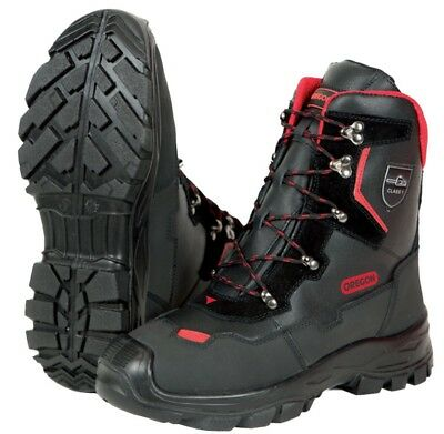 Oregon Yukon Class 1 Leather Chainsaw Protective Boots - Various Sizes