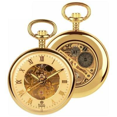 ROYAL LONDON Pocket Watch Jewelled Mechanical Skeleton 90002-03 RRP £99.99