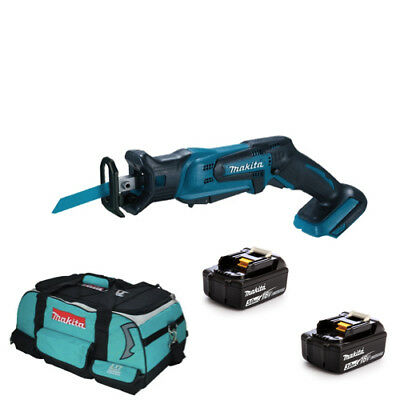 Makita DJR185Z 18V Cordless li-ion Mini Reciprocating Saw 2 BL1830 + LXT400 Bag
