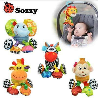 Sozzy Rattle Baby Sensory Soft Toy Pushchair Car Hanging Clip On Pram Girls Boys