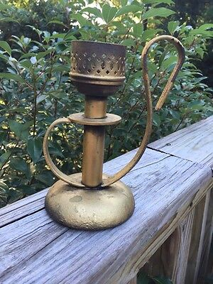 Antique Mason Candlelight Co NJ Cast Iron Candleholder