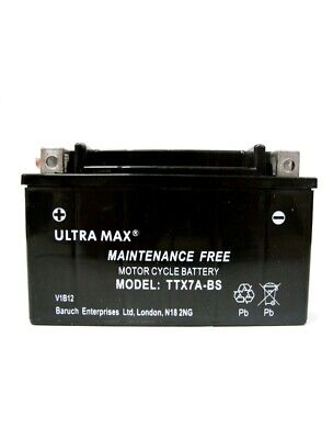 Ultra Max TTX7A-BS SAME AS YTX7A-BS 12V 6AH 75 CCA Motorbike Motorcycle Battery