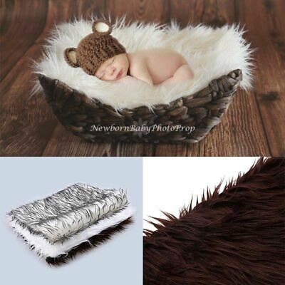 US Newborn Baby Photography Props Rug Soft Photo Backdrops Infant Blanket Mats