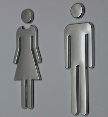 Bathroom Door Signs Men Women Figures Adhesive Restroom Commercial Unisex Decal