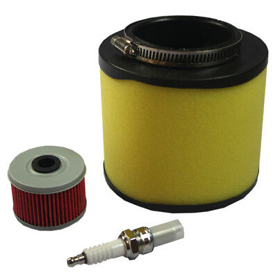 New Air Filter Oil Filter with Spark Plug for Honda Rancher 350 Foreman 400 450