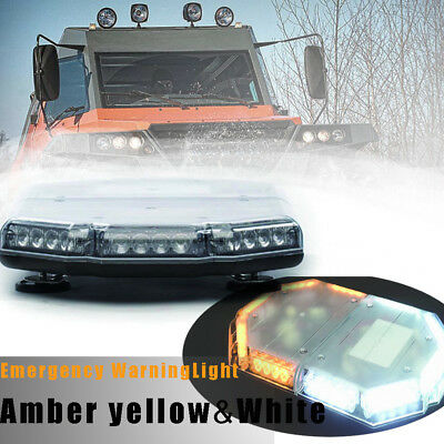 "40LED 15"" Light Bar Emergency Beacon Warn Tow Truck  Strobe Amber Yellow"