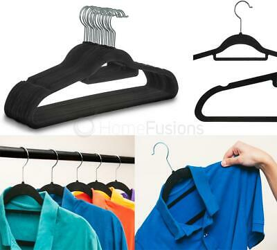 Coat Clothes Hangers Non Slip Velvet Flocked Curved Trousers Dresses Slim Velour