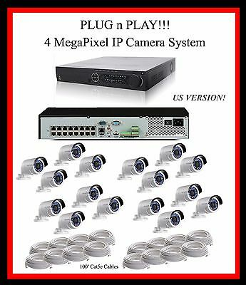 16 Ch Hikvision Nvr System, 12Tb, 4Mp Bullet Cameras - Support!  English Version