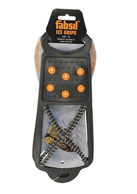 BoyzToys Snow Shoe Grips Winter Ice Grips Over Shoe Clip On Grippers