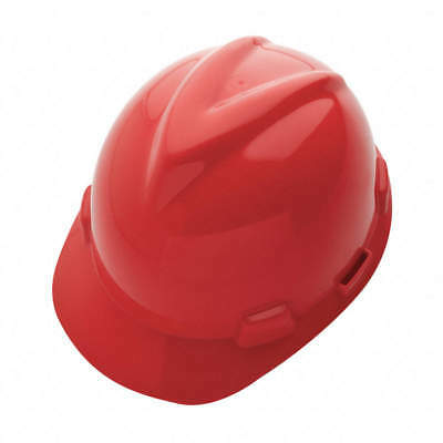(SET OF 2) MSA V-GARD GREEN HARD HAT, Ratchet, Red, 10150223, FREE $HIPPING