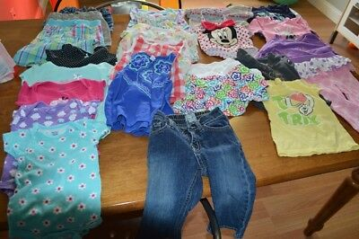lot baby girl  clothes ( 25 piece )  12 - 18 month used