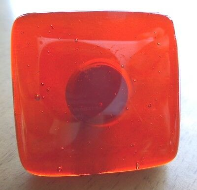 2 Glass Kitchen Bathroom Cabinet Dresser Knob 1 1/2 in square x 1 in  RED, Green