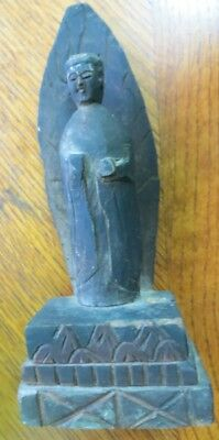 Very Old Asian Votive Statue Wooden Carving Antique God Goddess