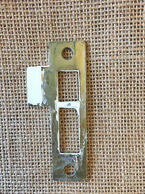 "Antique Steel Strike Plate for Mortise Lock 1 1/2"" x 3 1/2"""