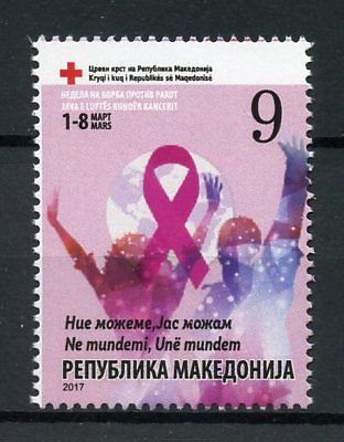 Macedonia 2017 MNH Red Cross Charity Cancer 1v Set Medical Health Stamps