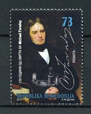 Macedonia 2017 MNH Michael Faraday 1v Set Science Physics Chemistry Stamps
