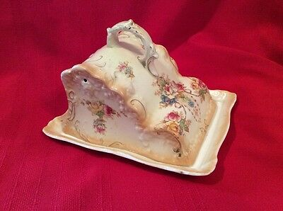Crown Devon Porcelain Stoke On Trent Wedge Shape Cheese Dish Platter Covered