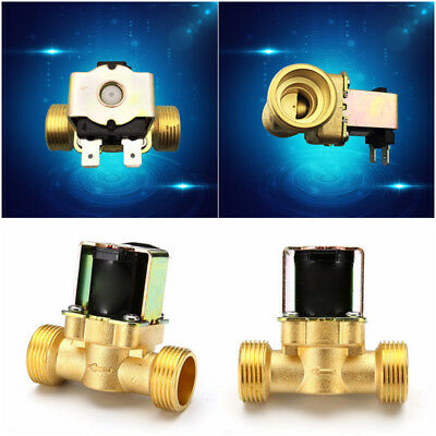 "3/4"" Brass Electric Solenoid Valve  2-Way Normally Closed Great  For Air Water"