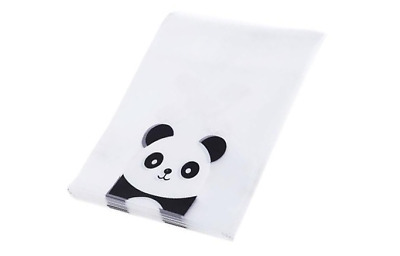 Cute Plastic Panda Packaging Bags Biscuit Food Product Clear Self Adhesive Anime