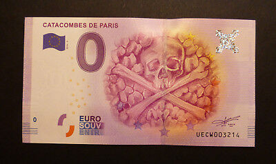 0 € | Catacombes de Paris 2016-2 (France) | Null Euro Souvenirschein / Billet