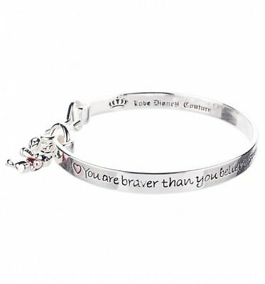 Official Platinum Plated Braver Than You Believe Winnie The Pooh Bangle from Dis