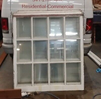 "Vintage 1930s White Wood 12 Panel Single Hung Windows 48"" X 52"" Multiples Avail."