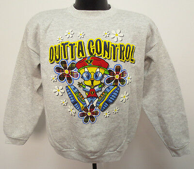 Tweety Bird Youth Xl Crewneck Sweatshirt Vintage Retro Cartoon Warner Bro