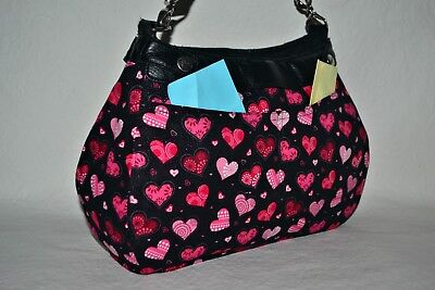 31 Thirty One SKIRT/COVER SUITE SZ Handmade 2 Pockets~Valentine Hearts~NO PURSE