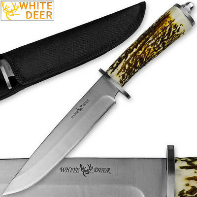 WHITE DEER Apprentice 12.5in Knife 440 Stainless Steel Sim-Stag Handle