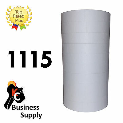 White 1115 labels for Monarch two line price gun - 10 rolls ink roller included