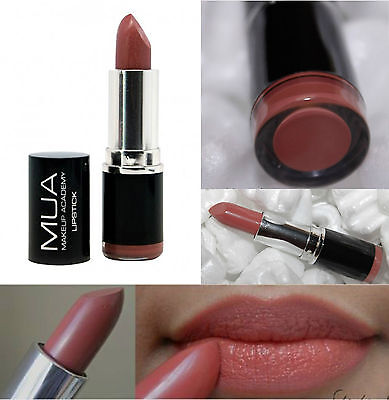 MUA MAKE UP Academy Lipstick SHADE 11 DARK NUDE BARE Naked NEW AND SEALED