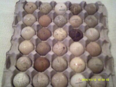 Rare Vintage Antique Over 50 Dimple Mesh Golf Ball Lot (2) - Balls One Price