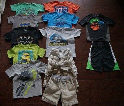 LOT of 14 Boys Clothes Size 5 6 7 Spring Summer Shirts Shorts Khaki Play Outfit