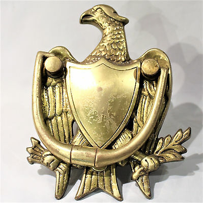 Antique Solid Brass Federal Eagle Door Knocker USA Washington