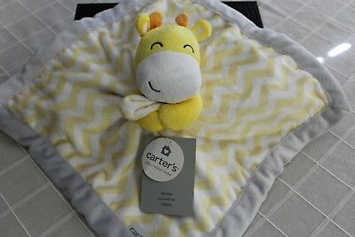 Carters Yellow Giraffe security blanket lovey - baby nursery NWT NEW
