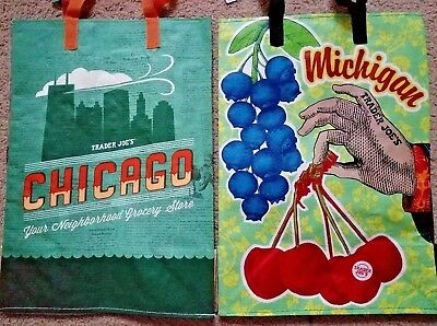 NEW Trader Joes Reusable Bags Chicago/Michigan State