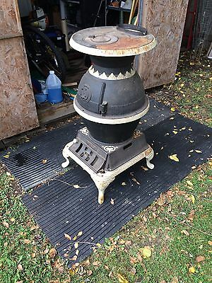 Pot Belly Antique Cast Iron Wood/Coal Stove -Gather Around The Home Town Store