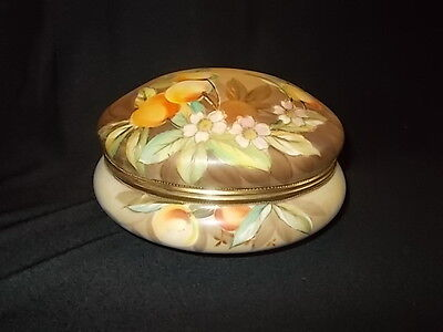 Nippon Hand Painted Large Covered Bowl-Stunning!